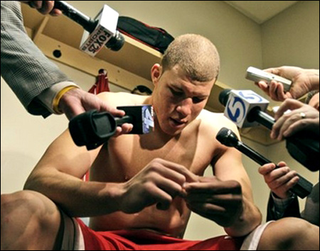 blake griffin shirt off. Oklahoma forward Blake Griffin
