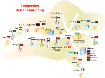 Embassies find home in neighborhood